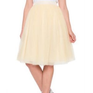 Eloquii pale yellow tulle skirt🌼